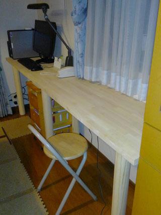 ゴム集成材の自作テーブル天板