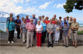 Anfahrt nach Villar Perosa – Rast am Genfer See