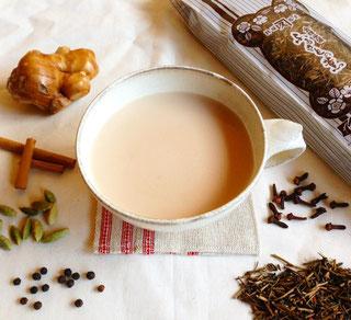 加賀棒茶のチャイ 写真提供 酒見銘茶店