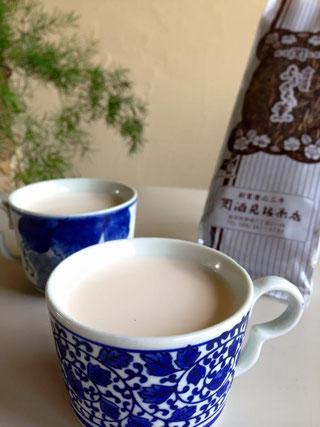 加賀棒茶のミルクティー