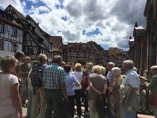 Führung durch die wunderschöne Altstadt von Colmar        Fotos: Froese, Echle, Wildi