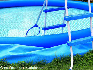 Pool abbauen