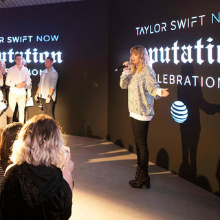 "Taylor at the ""Taylor Swift NOW reputation Celebration"" (2017)"