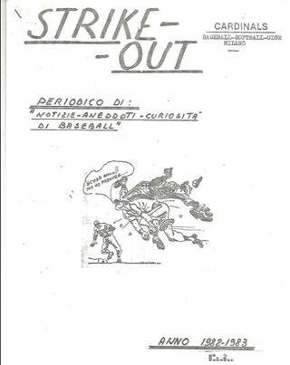 La copertina del periodico Strike-Out scritto da Giovanni Delneri