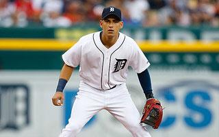 Nella foto Jose Iglesias shortstop dei Tigers