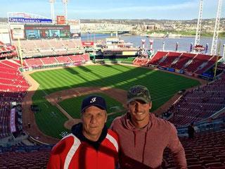 Io e Federico allo stadio dei Reds