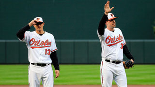 Nella foto con il numero 13 Manny Machado (ROB CARR/GETTY IMAGES)