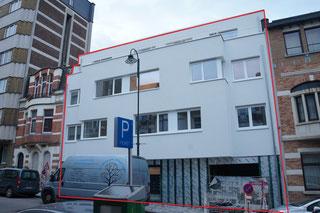 test d'infiltrométrie à l'air (BlowerDoor) d'un immeuble à appartements à Bruxelles en 2017 - PrismEco