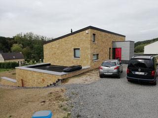 test d'infiltrométrie à l'air (BlowerDoor) d'une maison à Jodoigne en 2017 - PrismEco
