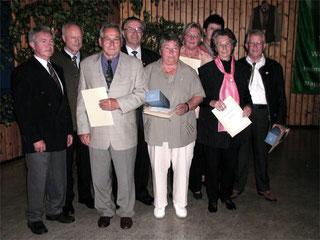 Ehrung langjähriger Mitglieder zur 50-Jahr-Feier 2004
