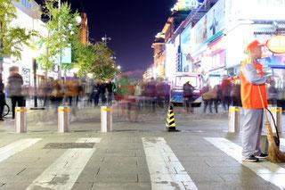Wangfujing Einkaufsstraße, Peking, Shopping, Nacht, China