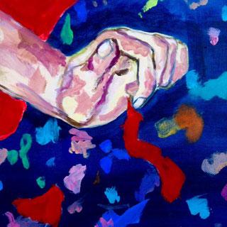 """Detail des Gemäldes """"Just Dancin'"""" von Zoë MacTaggart"""