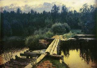 """Река Тьма на картине И. Левитана """"У омута"""""""