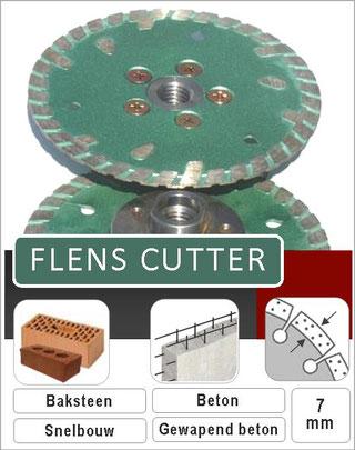 flenscutter slijpschijf is ontworpen om rechtstreeks op een haakse slijper te monteren zonder flens hierdoor kan er tot tegen de muur geslepen worden.