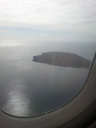 View from the plane over the Galapagos - a place that would be rather joyless without splashing a bit of cash. Dante Harker