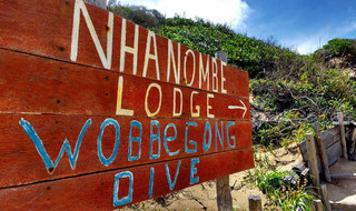 The Nhanombe Lodge, Zavora, sits directly on the dunes. Dante Harker