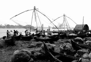 The famous Chinese fishing nets in Kochi, Kerala, India. Dante Harker
