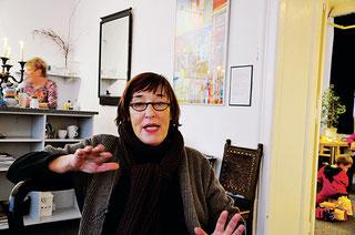 """""""Wir sind ein gemütliches Wohnzimmer"""". Ursula Kriese, eine der Initiatorinnen."""