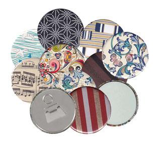 Taschenspiegel,Handspiegel,Geschenk,Unikat, italienisches Papier Yuzen Ppaier Baumwollpapier,Nepal Papier,Carta Varese Papier