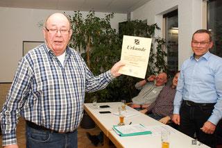 Walter Sauer wurde für 50 Jahre Mitgliedschaft geehrt