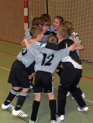 Das F- Jugend- Siegerteam des FSV- Schröck