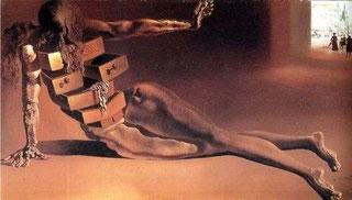 Картины Сальвадора Дали (1931 - 1940) - Антропоморфный шкафчик  (1936)