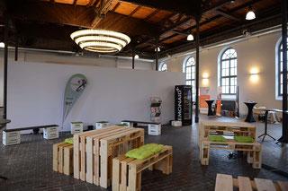Palettenmöbel mieten und Eventmöbel Verleih in Karlsruhe und Umgebung
