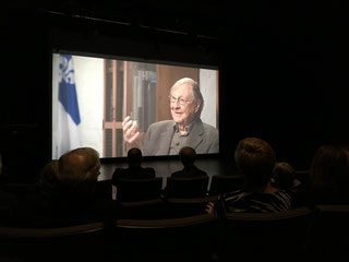 Le sociologue Guy Rocher, dans le documentaire «Les coulisses de la Charte». Photo : Sophie Hamel-Dufour