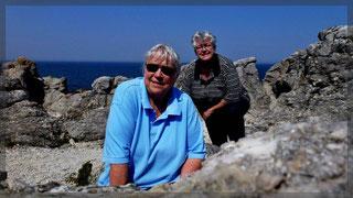 Travelmäuse in den Kalksäulen auf der Insel Färö/Gotland