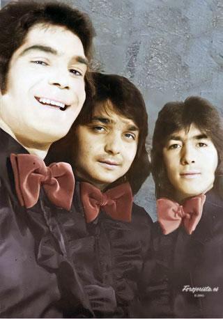Los Chichos de promoción con su postal del año 1975 Ediciones Fonogram