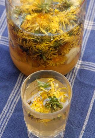 la limonade de printemps aux fleurs de pissenlit.