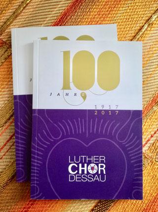 Titelseite der Festschrift zum 100. Jubiläum des Lutherchores.