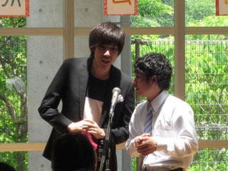 名古屋お笑い芸人 ファニーチャップ 福祉施設で漫才