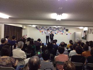 名古屋お笑い芸人 ファニーチャップ 自治会お祭りで漫才