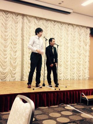 名古屋お笑い芸人 ファニーチャップ 全国腎疾患管理懇話会で漫才