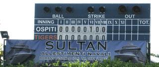 Sultan sponsor of Cervignano Baseball Tigers