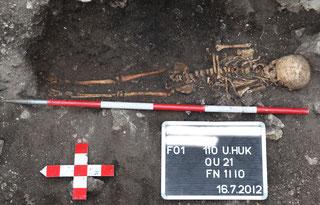 Aktivurlaub Archäologie - Skelett freilegen