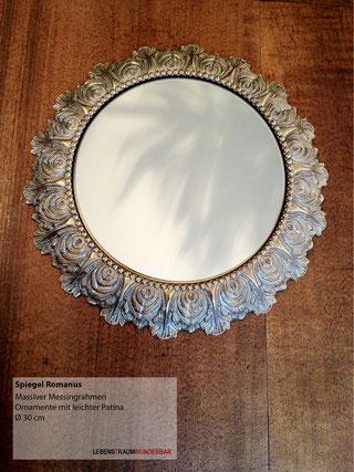 Spiegel  Romanus - Messing Massiv Ornamente Patina - Lebenstraum Wunderbar