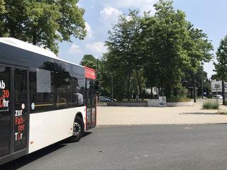 Möglicher Gedenkort am Bussteig in Bremen-Huckelriede