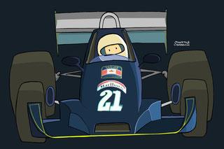 Warwick Brown by Muneta & Cerracín. Williams FW05 - Ford Cosworth V8 de la escudería Walter Wolf Racing.