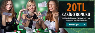 Betsix 20 TL canlı casino bonusu