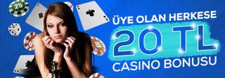 Bahis.bet 20 TL Canlı Casino Bonusu