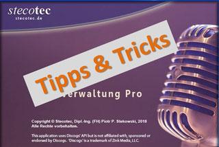 Tipps & Tricks zur stecotec's Musikverwaltung PRO