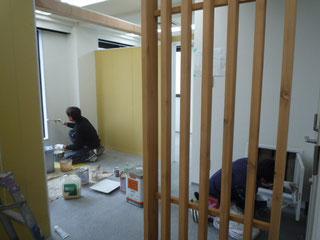塗装工事中