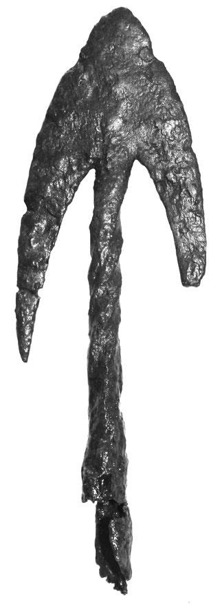 Große Jagdpfeilspitze mit zwei Flügeln, die als Widerhaken dienen, Mittelalter