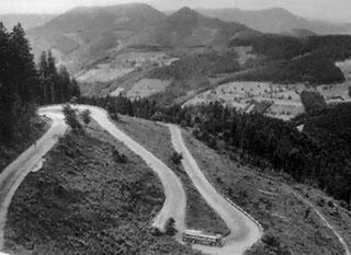 von Kniebis (Passhöhe - 970 m) ging es hinunter nach Oberkirch