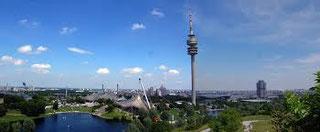 herrlich das Gelände rundum den Olympia-Turm