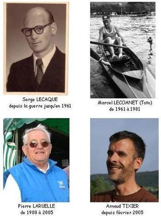 Les 4 derniers présidents de l'ASG Aviron