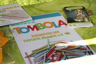 Foto: Jasmin Mäser,  die Tombola zum DogWalk
