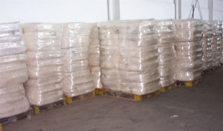 Versandfertige Papierwolle